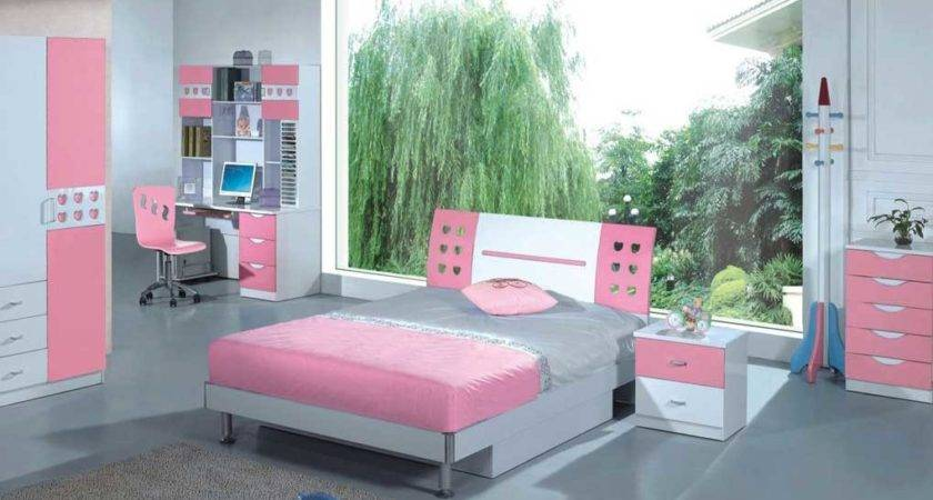 Contemporary Pink Grey Bedroom Inspiration