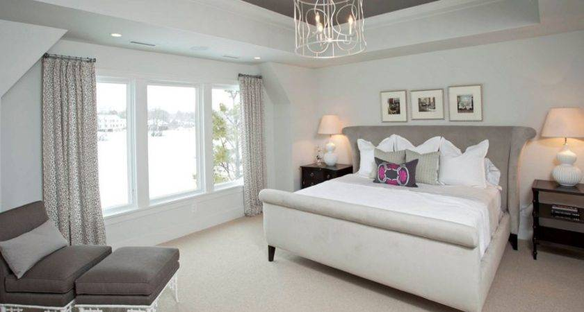 Contemporary Romance Taupe Color Bedroom Home Decorating