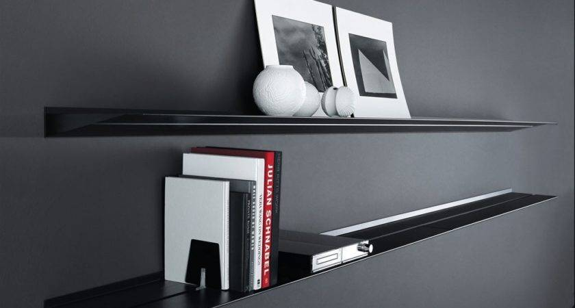 Contemporary Wall Shelves Black