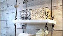 Cool Ways Decorate Suspended Shelving