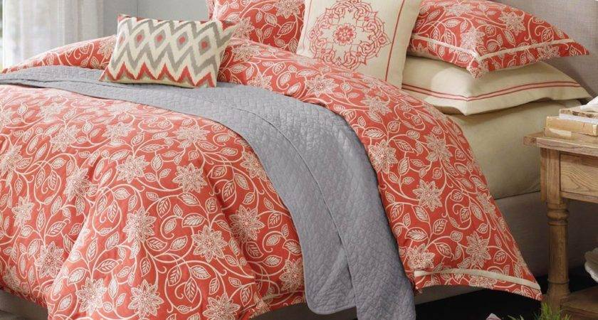 Coral Color Bedding Comforter Decor Trends