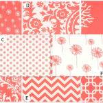 Coral White Custom Crib Bedding Set Rockytopdesign