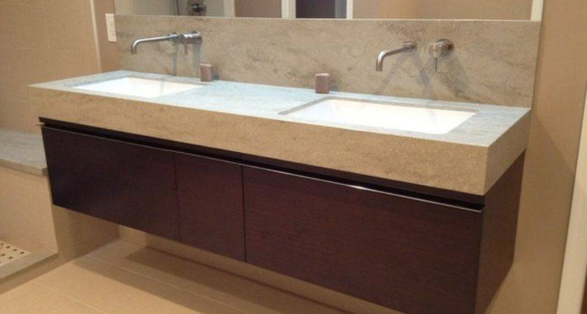 Corian Sagebrush Bathroom Vanity