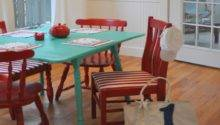Cottage Kitchen Tables Turquoise Red Yellow