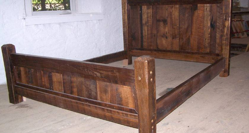 Country Cabin Rustic Bed Frame Beveled Posts