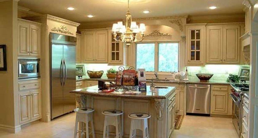 Country French Kitchen Design Antique White Shaker