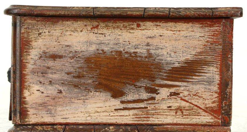 Country Pine Oak Antique Tabletop Worn Paint Rustic