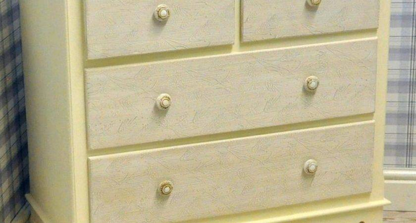 Country Shabby Chic Washed Wood Cream Painted Chest