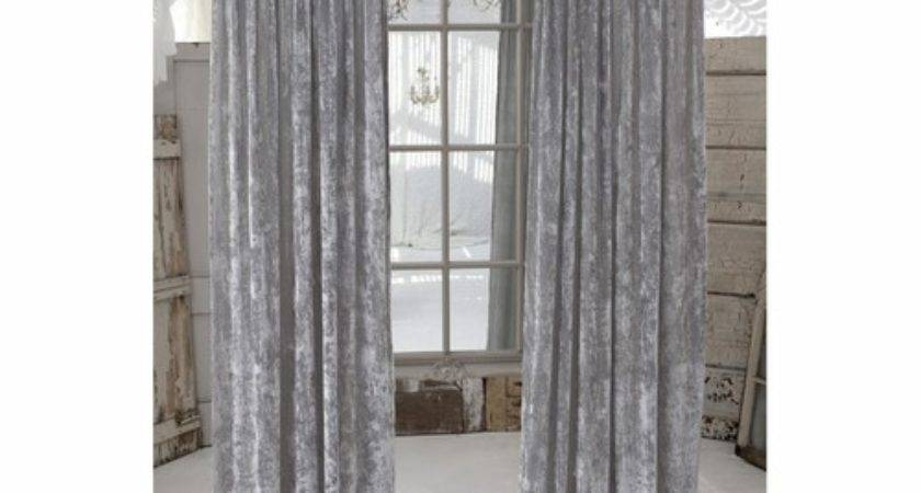 Couture Dreams Curtains Luscious Platinum Silk Velvet