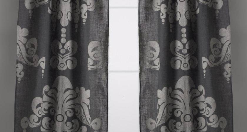 Couture Dreams Enchantique Jute Slate Grey Window Curtain