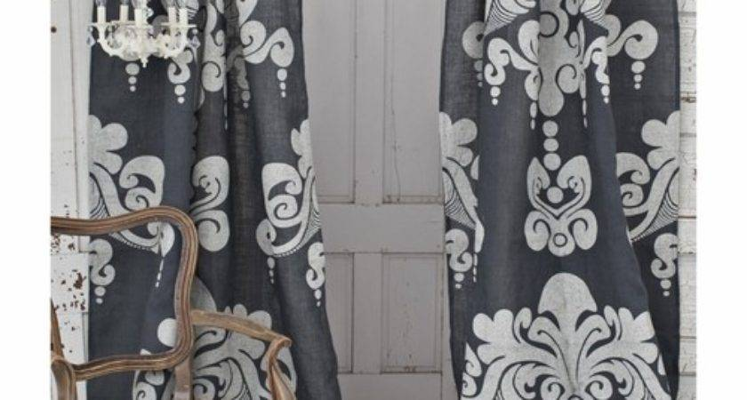 Couture Dreams Enchantique Slate Grey Jute Window Curtain