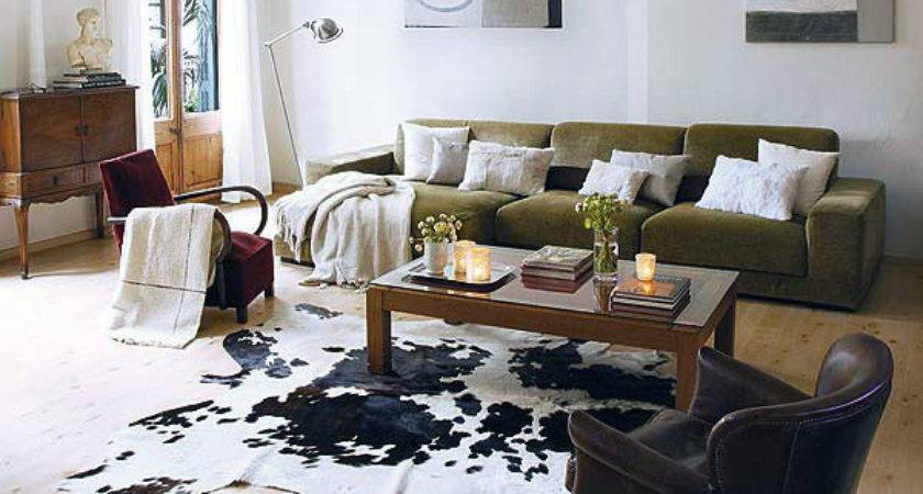 Cowhide Rug Living Room Beautify Rooms Stylish