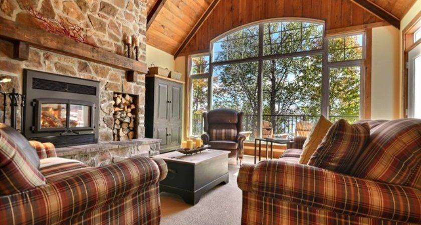 Cozy Cottage Rustic Living Room Montreal