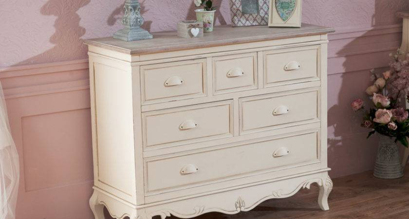 Cream Chest Drawers French Country Shabby Vintage Chic