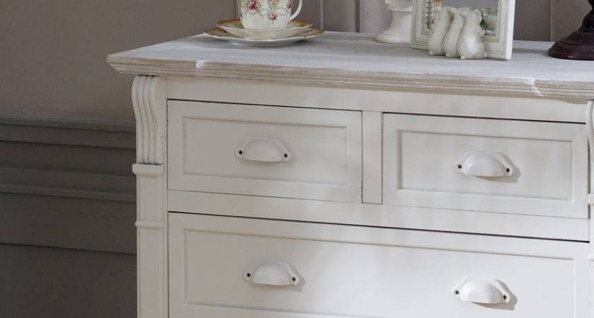 Cream Drawer Chest Shabby French Chic Vintage Country