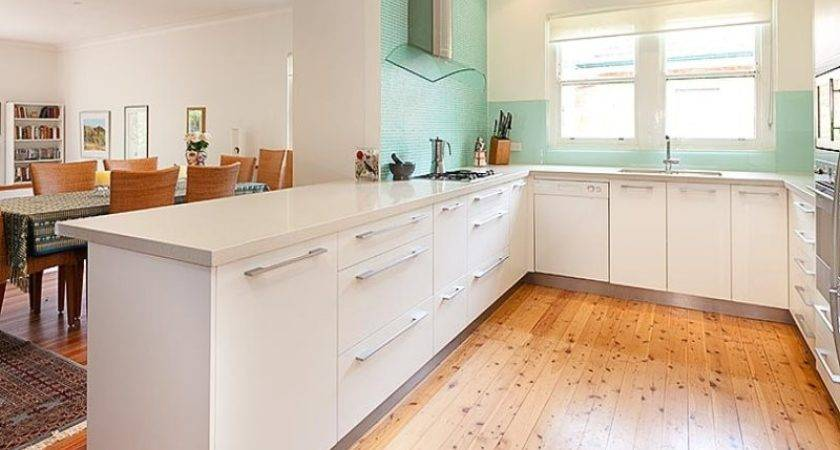 Cream French Provincial Small Kitchen Shape Home
