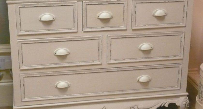 Cream Large Chest Drawers French Vintage Shabby Bedroom