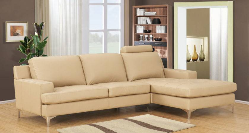 Cream Leather Sofa Shaped Design Stainless