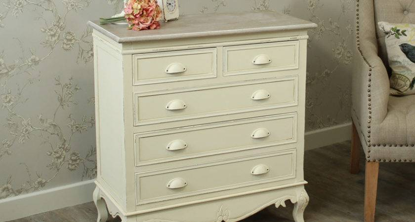 Cream Painted Drawer Chest Bedroom Shabby French Chic