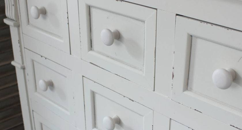 Cream Wood Drawer Chest Shabby French Chic Bedroom