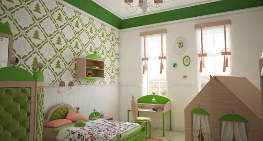 Creative Green Bedroom Forest Inspired Theme