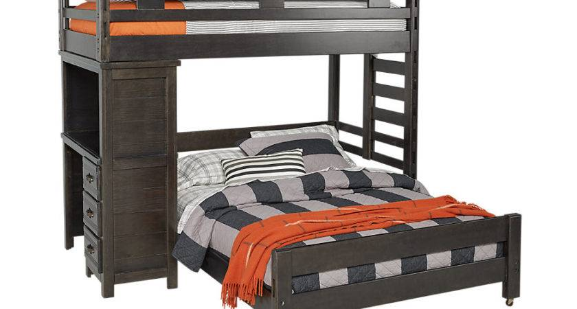 Creekside Charcoal Twin Student Loft Bed Desk