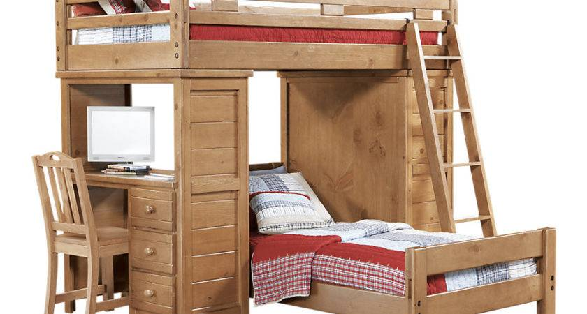 Creekside Taffy Twin Student Loft Bed Desk