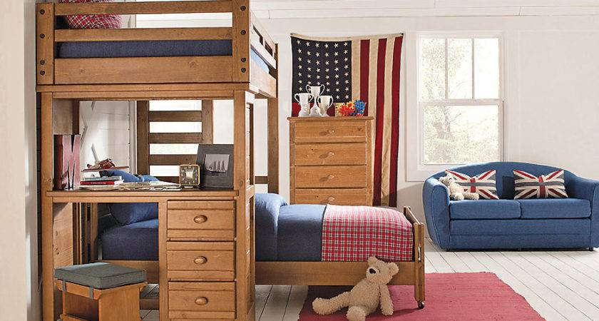 Creekside Taffy Twin Student Loft Bedroom