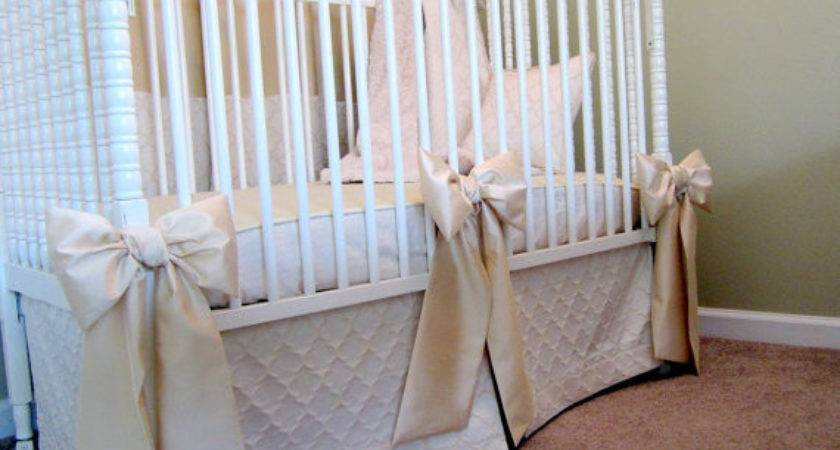 Crib Bows Neutral Baby Bedding Detachable