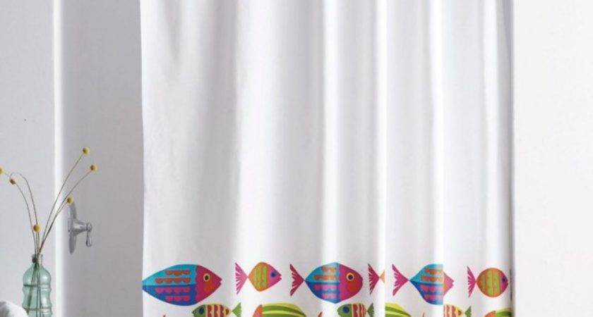 Curtain Astonishing Fish Shower Tropical