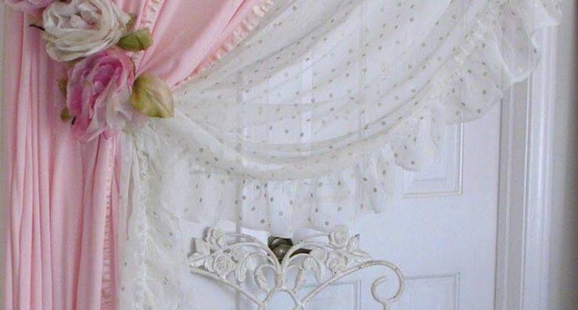 Curtain Shabby Chic Curtains Pink Best Pinterest