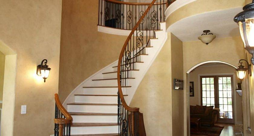 Curved Staircase Design Simple Wood Spiral Apartment