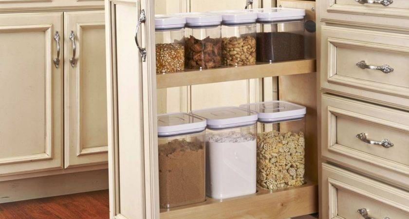 Custom Brown Wooden Narrow Kitchen Pantry Cabinet