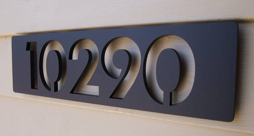 Custom Modern Floating House Numbers Aluminum