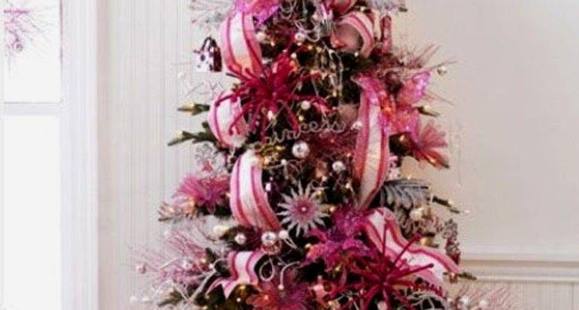 Cute Beautiful Pink Christmas Tree Decorations