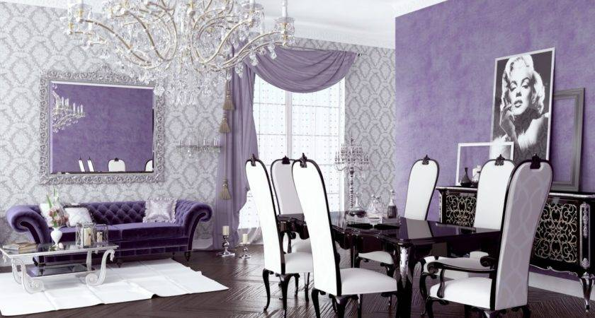 Cute Purple Living Room Decor Your Home Ideas