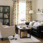Dark Brown Couch Living Room Decor Relaxed Modern