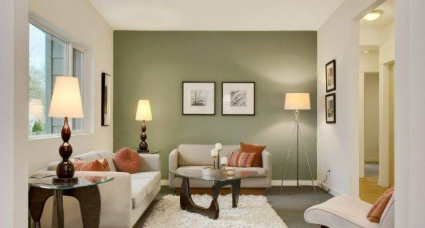 Dark Green Accent Wall Living Room Paint Color