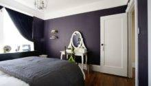 Dark Purple Wall Color Vintage White Vanity Table