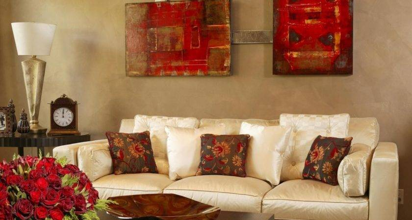 Dcor Stand Out Red Living Room Accents