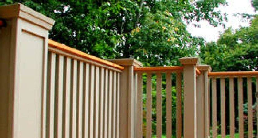 Deck Railing Has Wooden Posts