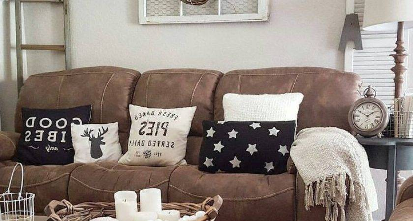 Decor Ideas Living Room Brown Furniture Home Decorations