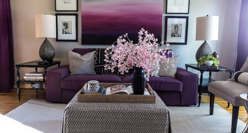 Decor Your Living Room Purple Hues Home