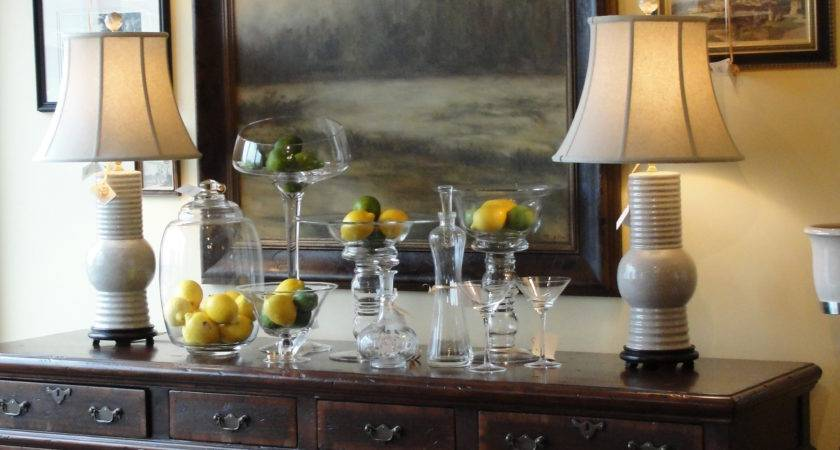 Decorate Dining Room Buffet Table