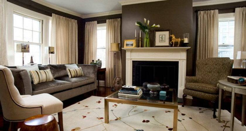 Decorate Living Room Fireplace Home Round