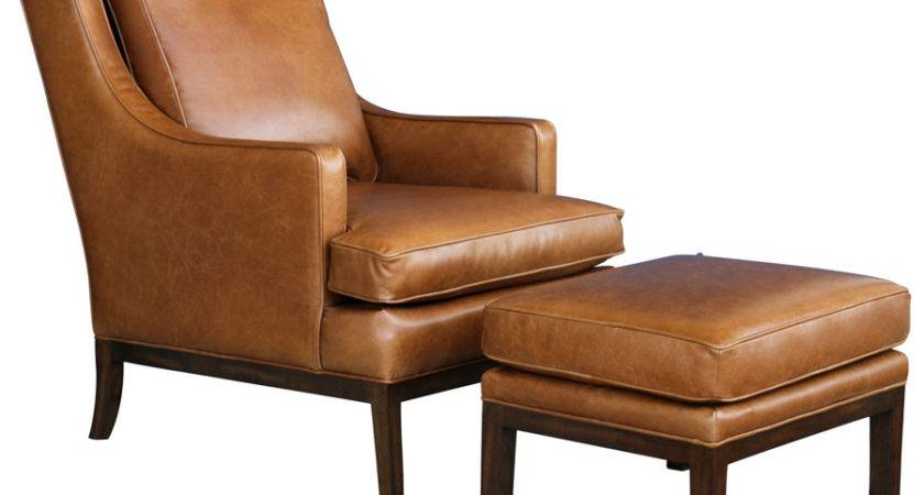 Decorate Living Room Leather Chair Ottoman
