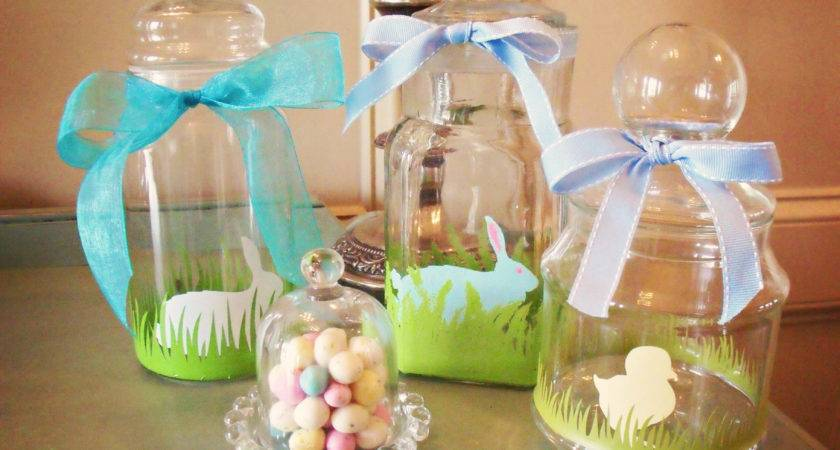 Decorated Easter Jars Tutorial Atta Girl Says