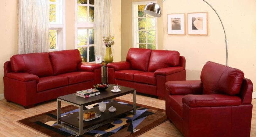 Decorating Ideas Living Room Red Leather Sofa