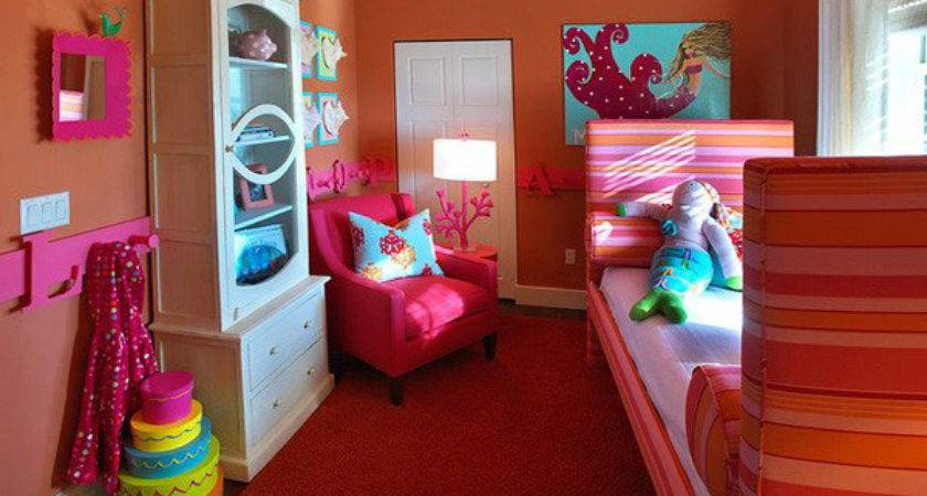 Decorating Ideas Small Bedrooms Girl Orange Theme