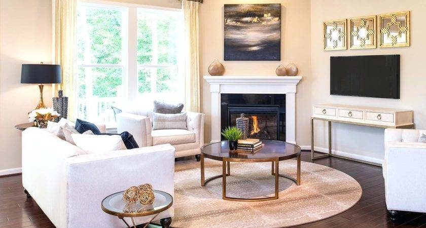 Decorating Living Room Around Fireplace Ideas Small